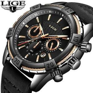 【送料無料】 腕時計 メンズトップブランドカジュアル2019 wristwatch lige mens wristwatches top brand luxury men casual leather water