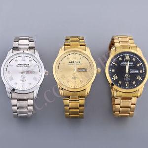 【送料無料】 腕時計 クールメンズステンレススチールアナログクォーツカジュアルクリスマスcool mens stainless steel analog quartz date day casual wrist watch xmas gift