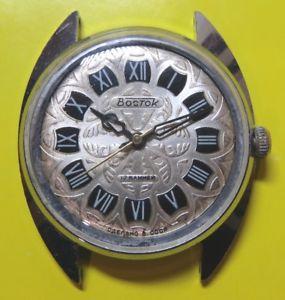 【送料無料】 腕時計 ビンテージソヴォストークソビエトロシアウォッチrare vintage ussr wostok vostok 17 jewels soviet russian wrist watch 1970s