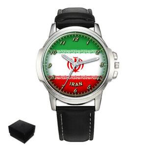 【送料無料】 腕時計 イランメンズプレゼントiran flag mens wrist watch engraving birthday gift