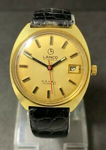 【送料無料】 腕時計 ビンテージスイスvintage lanco naval 17jewels cal7821 swiss made from 60s