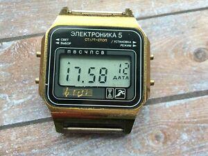 【送料無料】 腕時計 ウォッチソメンズデジタルwatch elektronika 5 29367 ussr mens digital