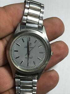 【送料無料】 腕時計 メンズシルバートーンリビエラアナログウォッチmens silver tone riviera analog watch