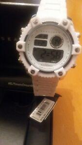 【送料無料】 腕時計 アナログデジタルホワイトsean john analog digital watch white