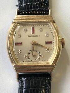 【送料無料】 腕時計 kbenrus 17j 10k rgp windup wrist watch