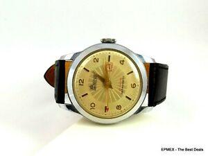 【送料無料】 腕時計 ビンテージロードネルソンスイスカレンダーウォッチvintage lord nelson swiss 17 j calendar anti magnetic wrist watch good working