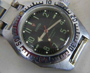 【送料無料】 腕時計 ボストークwostokamphibiaウォッチロシア172409a1vostok wostok amphibia antimagnetic watch russian 17 jewels 2409a caliber 1