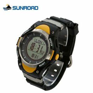 【送料無料】 腕時計 sunroadディジタルコンパスイエロー