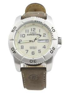 【送料無料】 腕時計 メンズシルバーブラウンアナログウォッチtimex mens t46681 expedition traditional silverbrown analog watch