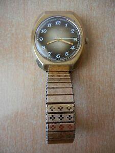 【送料無料】 腕時計 ビンテージロシアソсссрウォッチvintage watch russian mens poljot 2627h gold plated ussr ссср