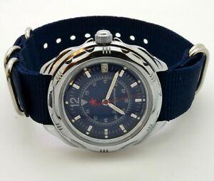 【送料無料】 腕時計 ロシアヴォストークスペアナイロンストラップウォッチrussian vostok 211398 spare nylon strap military wrist watch komandirskie