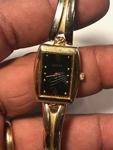 【送料無料】 腕時計 レディースゴールドトーンアナログウォッチnice ladies gold tone guess analog watch