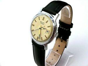 【送料無料】 腕時計 ソ#ソussr poljot 1mchz 2, soviet watches, date, 17 jewels, 1964s