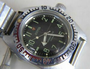 【送料無料】 腕時計 ヴォストークロシアウォッチ#vostok wostok amphibia antimagnetic watch russian 17 jewels 2409a caliber 3