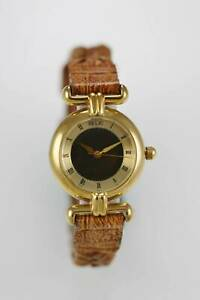 【送料無料】 腕時計 ステンレスゴールドブラウンクォーツrelic mood watch women water resistant stainless gold steel leather brown quartz