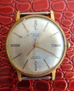 【送料無料】 腕時計 ビンテージソソvintage ussr soviet gold plated au 20m wrist watch poljet 23 jewels ultra think