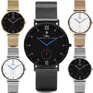 【送料無料】 腕時計 ゴールドブラックシルバーメッシュクラシックビンテージ
