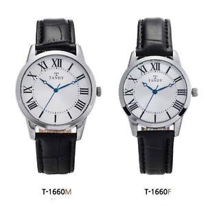 【送料無料】 腕時計 tandyビジネスt1660tandy men women ladies couple leather business wrist watch t1660