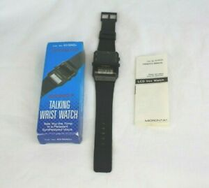 【送料無料】 腕時計 オーナーズマニュアルオリジナルボックスmicronta vox synthesized lcd talking wrist watch owners manual amp; original box