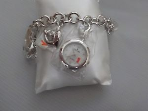 【送料無料】 腕時計 ヘンヨウボクwomens croton silver watch with dangles