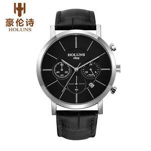 【送料無料】 腕時計 ファッションカジュアルブランドクォーツholuns men fashion casual brand leather waterproof quartz watches