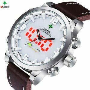 【送料無料】 腕時計 デジタルアナログウォッチled digital watch running lcd wristwatch waches men analog digitalwatch men