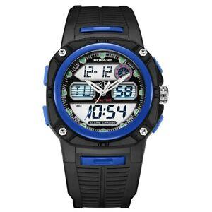 【送料無料】 腕時計 ポップアートデジタルリードストップウォッチ50mpopart led digital watches men sport watch stopwatch 50m waterproof blue fashion