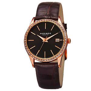 【送料無料】 腕時計 akribos xxiv womens classsic ak883bkr wrist watch