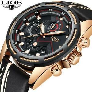 【送料無料】 腕時計 ファッションスポーツクォーツレザーメンズトップブランドルクスlige wristwatch men fashion sport quartz leather mens wristwatches top brand lux