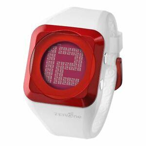 【送料無料】 腕時計 ディジタルzeronehdホワイトmetalicデジタルzerone hd white metalic red digital watch hidden digital