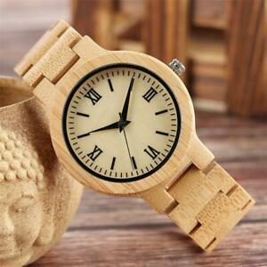 【送料無料】 腕時計 100クオーツ100 natural wooden bamboo watch men handmade quartz