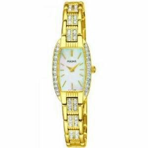 【送料無料】 腕時計 パルサーレディーススワロフスキーペグpulsar ladies swarovski gold plated watch peg988x1pnp