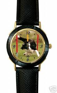 【送料無料】 腕時計 ボーダーコリースポーツアジリティスラロームwatch dog border colliesport agility slalom