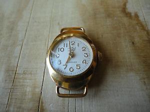 【送料無料】 腕時計 zarjaヴィンテージussrソビエトgiltmarvelous condition zarja vintage ussr soviet watch ladies wristwatch gilt