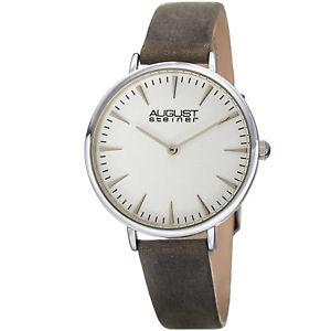 【送料無料】 腕時計 シュタイナーハンドクォーツストラップウォッチwomens august steiner as8187gy two hand quartz genuine leather strap watch