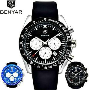 【送料無料】 腕時計 ゴムシリコーンアナログマルチファンクションメンズスポーツbenyar rubber silicone analog multi function mens waterproof luxury watch sport