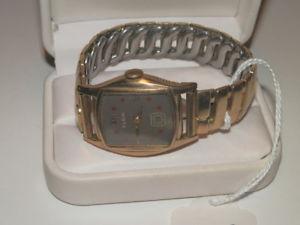 【送料無料】 腕時計 #ヴィンテージエルギンktゴールド5719,vintage elgin 10kt gold filled red dot wristwatch