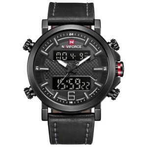 【送料無料】 腕時計 メンズファッションスポーツウォッチ2019naviforcemens fashion sport watch 2019 naviforce leather waterproof quartz watch