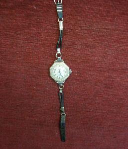【送料無料】 腕時計 kホワイトゴールドビンテージレディース14k white gold filled ornate vintage ladies wristwatch runs