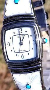 【送料無料】 腕時計 ユニークスターリングシルバーターコイズトルコrare,unique womens sterling silver watch ecclissi wturquoise 23800