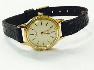 【送料無料】 腕時計 ビンテージゴールドトーンvintage galaxie elgin womens gold tone quartz wrist watcheg314j