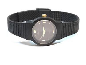【送料無料】 腕時計 ビンテージニコルクォーツブラックトーンウォッチ