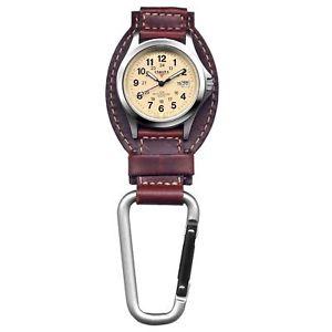 【送料無料】 腕時計 ダコタフィールドクリップハンガーdakota watch company field clip hanger watch brown leather water resistant