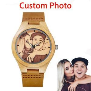 【送料無料】 腕時計 クオーツlogoカスタマイズpersonalized wood watch men quartz wristwatches customized photo logo engraved