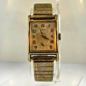【送料無料】 腕時計 ビンテージエルジンkイエローゴールドステンレススチールウォッチvintage elgin 19 jewels 10k yellow gold filled and stainless steel watch