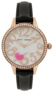 【送料無料】 腕時計 ジョンソンハートモチーフストラップウォッチbetsey johnson bj0065802bx rose goldtone heart motif strap watch