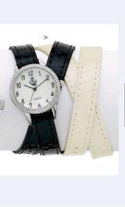 【送料無料】 腕時計 プレミアデザインジュエリータイムラップホワイトレザーパール
