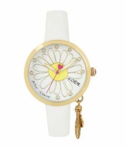 【送料無料】 腕時計 ジョンソンデイジーホワイトストラップbetsey johnson bj0065610bx he loves me daisy white strap dangle charm watch
