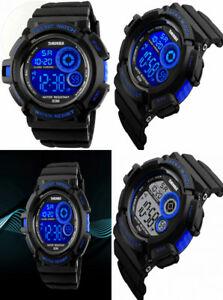 【送料無料】 腕時計 メンズアラームストップウォッチバックライトデジタル