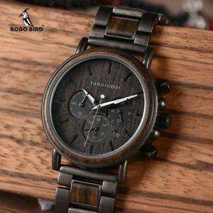 【送料無料】 腕時計 ボボトップブランドスタイリッシュクロノグラフbobo bird wood men watch relogio masculino top brand luxury stylish chronograph